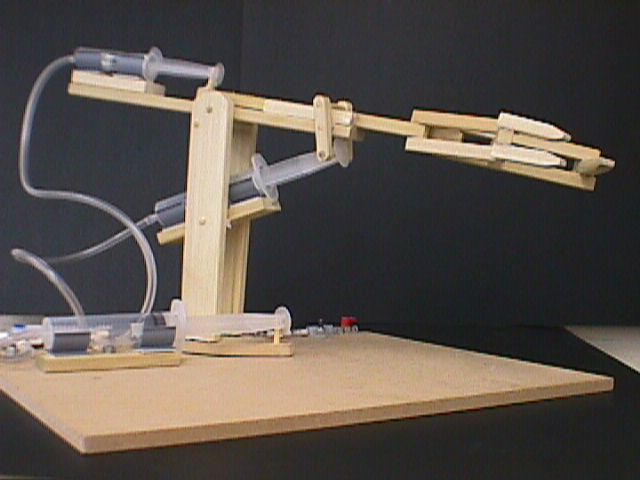 Simple Hydraulic Robotic Arm Designs : Efficiency